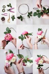 ساخت تاج گل عروس